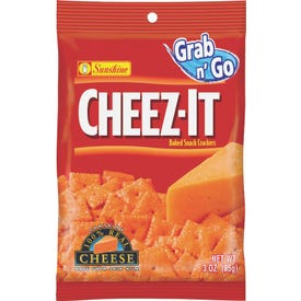 CHEEZ-IT CHEEZIT36 Original Baked Snack Crackers, Cheese Flavor, 3 oz Bag