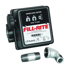 Fill-Rite 807CMK Flow Meter Kit, 3/4 in NPT, 1 % Accuracy, 5 to 20 gpm, Aluminum