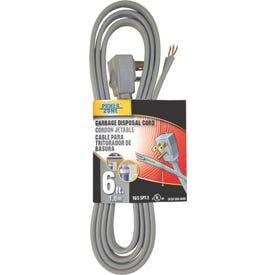 PowerZone OR210606 Power Cord, 5-15P, 6 ft L, 13 A, 125 V, Gray Jacket