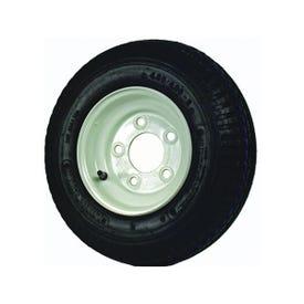 MARTIN WHEEL DM408B-5I Trailer Tire Assembly, 480-8 Tire, 21 in Dia Tire, K371 Tread, Rubber Tire