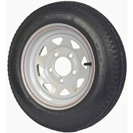Martin Wheel DM412B-5C-I Trailer Tire, 1120 lb Withstand Load, 4-1/2 in Dia Bolt Circle, Rubber