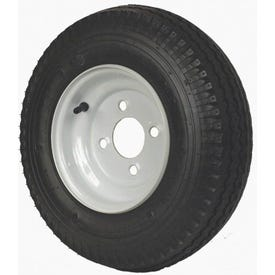 MARTIN WHEEL DM408B-4I Trailer Tire, 590 lb Withstand, 4-1/2 in Dia Bolt Circle, Rubber