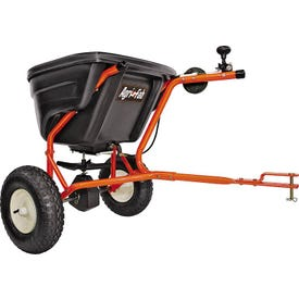 AGRI-FAB 45-0463 Broadcast Spreader, 25,000 sq-ft Coverage Area, 12 ft W Spread, 130 lb Hopper, Poly Hopper