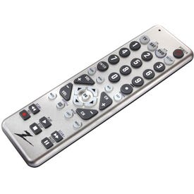 Zenith ZC300 Remote Control, AAA Battery, 20 ft Max Operating Range, Silver
