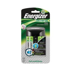Energizer CHPROWB4 Battery Charger, AA, AAA Battery, Nickel-Metal Hydride Battery, 4-Battery, Black