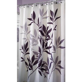 IDESIGN 35620 Shower Curtain, 72 in L, 72 in W, Polyester, Gray/Neutral Black