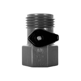 VALLEY INDUSTRIES GHV-1-BLK-CSK Garden Hose Valve FGHT x MGHT, FGHT x MGHT, 60 psi Pressure, Nylon