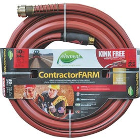 SWAN Element ContractorFARM ELCF34050 Water Hose with Brass Coupling, 50 ft L