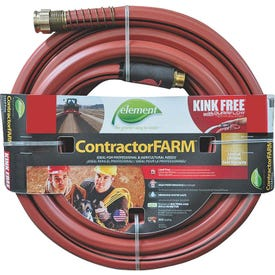 SWAN Element ContractorFARM ELCF34100 Water Hose with Brass Coupling, 100 ft L
