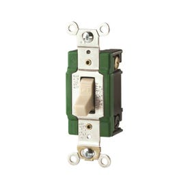 Eaton Wiring Devices 3032V Toggle Switch, 30 A, 120/277 V, Screw Terminal, Polycarbonate Housing Material, Ivory
