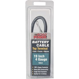 CCI Maximum Energy 19-4 Battery Cable, 4 AWG Wire, Black Sheath