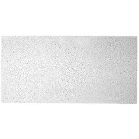 USG PLATEAU 725 Ceiling Panel, 4 ft L, 2 ft W, 9/16 in Thick, Mineral Fiber, White