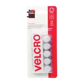 VELCRO Brand 90070 Fastener, 5/8 in W, Nylon, White, Rubber Adhesive