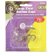 OOK 54404 Suction Cup, Plastic Base, Clear Base, 5 lb Working Load