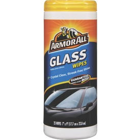 ARMOR ALL 10865 Glass Wipe, 25 Container, Mild