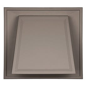 BUILDERS EDGE 140056774001 Hooded Vent, 9-1/10 in OAL, 10 in OAW, 25 sq-in Net Free Ventilating Area, White