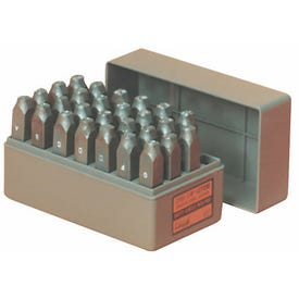 CH Hanson 20300 Letter Stamp Set, 27-Piece, Steel, Specifications: 1/4 in Character, 3/8 x 2-5/8 Shank
