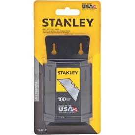 STANLEY 11-921A Utility Blade, 2-7/16 in L, HCS, 2-Point