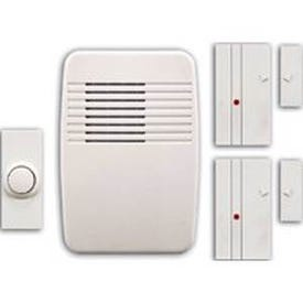 Heath Zenith SL-7352-02 Home Alert Kit with Cover, Ding, Ding-Dong, Westminster Tone, 75 dB, White