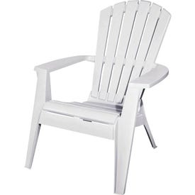 Adams RealComfort 8371-48-3700 Adirondack Chair, 30 in W, 32-1/2 in D, 37-1/2 in H, Polypropylene Frame