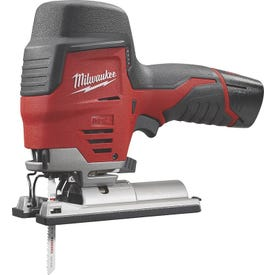 Milwaukee 2445-21 Jig Saw, Kit, 12 V Battery, 1.5 Ah, 3/4 in L Stroke, 0 to 2800 spm SPM, Battery Included: Yes