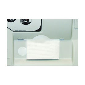 CONTINENTAL COMMERCIAL 8255 Diaper Changing Station Liner, 250 lb, 6-1/2 in L, 4-3/4 in W, Wall Mounting, White