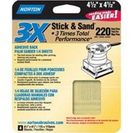 NORTON ProSand 07660705312 Sanding Sheet, 4-1/2 in L, 4-1/2 in W, Medium, 150 Grit, Aluminum Oxide Abrasive