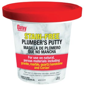 Oatey 31177 Plumber's Putty, Solid, Off-White, 9 oz