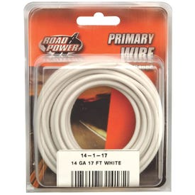 CCI Road Power 55669033/14-1-17 Electrical Wire, 14 AWG, 25 VAC, 60 VDC, Copper Conductor, White Sheath