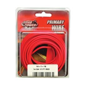 CCI Road Power 55669133/14-1-16 Electrical Wire, 14 AWG, 25 VAC, 60 VDC, Copper Conductor, Red Sheath