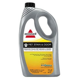 BISSELL 72U8 Carpet Cleaner, 32 oz Bottle, Liquid, Characteristic, Pale Yellow