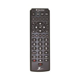 Zenith ZB410MB Remote, AAA Alkaline Battery, 20 ft Max Operating Range, Silver
