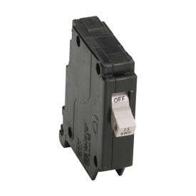 Cutler-Hammer CHF115CS Circuit Breaker with Flag, Miniature, Type CHF, 15 A, 1-Pole, 120/240 V, Common, Fixed Trip