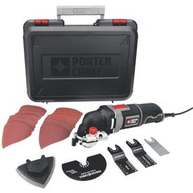 PORTER-CABLE PCE605K Oscillating Multi-Tool Kit, 3 A, 10,000 to 22,000 opm OPM, 2.8 deg Oscillating