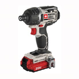 PORTER-CABLE PCCK640LB Impact Driver Kit, Kit, 20 V Battery, 1.5 Ah, 1/4 in Drive, Hex Drive, 3100 ipm IPM
