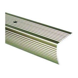 M-D 43880 Stair Edging, 73.63 in L, 2 in W, Aluminum, Pewter