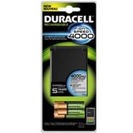 DURACELL 66105 Battery Charger, AA, AAA Battery, Nickel-Metal Hydride Battery, 4-Battery