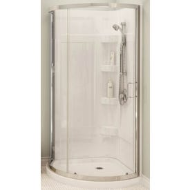 MAAX Cyrene 300001-000-001-102 Shower Kit, 34 in L, 34 in W, 76 in H, Acrylic, Chrome, Glue Up Installation