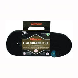 GILMOUR MFG 870751-1001 Soaker Hose with Cloth Cover, 75 ft L, Vinyl, Black