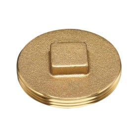 Oatey 42373 Cleanout Plug with Raised Head, 3-1/2 in, Brass