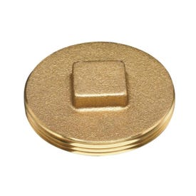 Oatey 42374 Cleanout Plug with Raised Head, 4 in, Brass