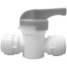 WATTS PL-3011 Stop Valve, 1/4 in Connection, Compression, 150 psi Pressure, Manual Actuator, CPVC Body