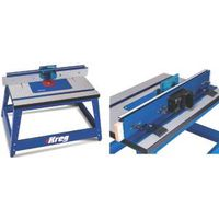Kreg PRS2100 Precision Benchtop Router Table, 20 in W Stand, 28-1/4 in D Stand, 20-1/4 in H Stand, Fiberboard