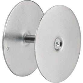 Defender Security U 10446 Hole Cover Plate, Steel, Satin Nickel, For: 1-3/4 in Thick Doors