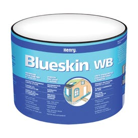 Henry Blueskin WB25 HE201WB968 Window and Door Flashing, 75 ft L, 6 in W, Paper, Blue, Self Adhesive