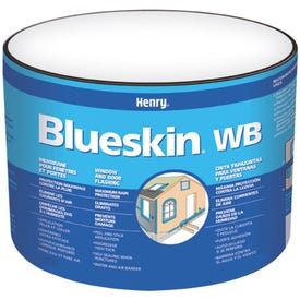 Henry Blueskin WB25 HE201WB976 Window and Door Flashing, 75 ft L, 12 in W, Paper, Blue, Self Adhesive