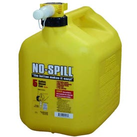No-Spill 1457 Diesel Gas Can, 5 gal, Plastic, Yellow
