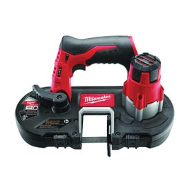 Milwaukee 2429-20 Cordless Band Saw, Bare Tool, 12 V Battery, 27 in L Blade, 1/2 in W Blade, 1-5/8 in D Throat