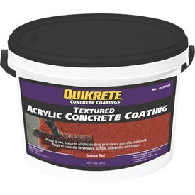 Quikrete 8730-16 Concrete Coating, Textured, Sedona Red, 1 gal Bottle