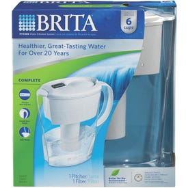 Brita 635566 Water Filter Pitcher, 6 Cup Capacity, White